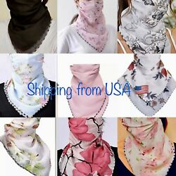 Scarf face mask cover. Floral and solid designs. Ships from USA 🇺🇸🇺🇸🇺🇸 $7.95