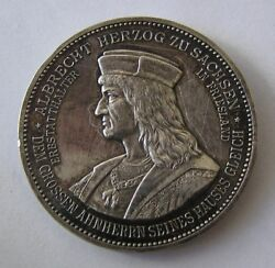 Germany Saxony Silver Medal 1898 King Albert 25 Years Of Reign
