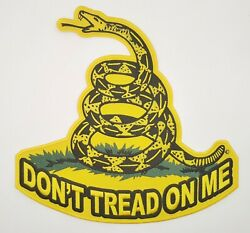 Gadsen Donand039t Tread On Me - Snake Iron On Sew On Embroidered Back Patch 10 X 10