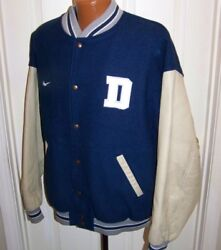 Nike Team Dallas Cowboys Letterman Varsity Jacket Wool Leather Quilted Men's Xl