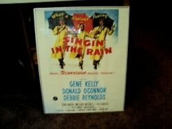 1952 Singin In The Rain Original Movie Poster Half Sheet 28 X 22