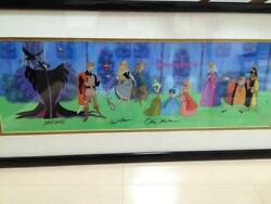Disney Cell Picture Sleeping Beauty Autographed By Nine Old Men Limited Mint F/s