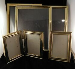 Vintage Brass And/or Silver Tone Picture Frames 1980's Heart Oval Rectangle