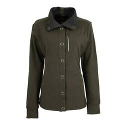 Sts Ranchwear Ladies Olive Knit Button Up Jacket Sts2423