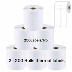 4x6 Direct Thermal Shipping Labels 250 Per Roll For Zebra Eltron 2844 Zp450 Ups