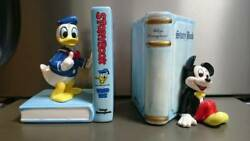 Tokyo Disneyland 80's Vintage Donald Duck And Mickey Mouse Ceramic Book Stand
