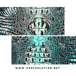 Embossed Leather Crocodile Sea Turquoise Leather Sheets For Wallets Bags