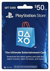 Playstation Store Gift Card Denomination 25 50 100 200 Apps Physical Cards