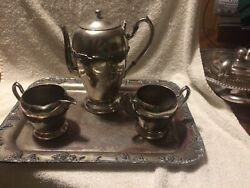 Vintage Gorham Silver Company Silver Plated 3 Pc Coffee/ Tea Set