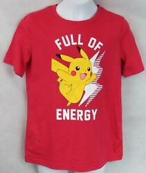 Pokemon Boys T Shirt New Red Pikachu Officially Licensed Jumping Beans $11.69