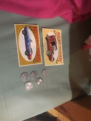 Way-out Wheels Cards And Hotwheels Shell Coins
