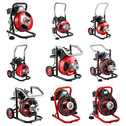 Drain Cleaner 50and039-100and039 Cable Drain Cleaning Machine Snake Sewer Clean W/ Cutters