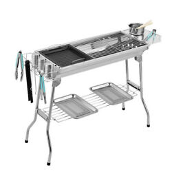 Bbq Outdoor Stainless Steel Barbecue Bbq Carbon Grill Portable Folding Barbecue