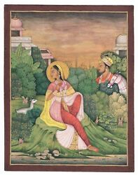 Handmade The Emperor Is Watching The Queen View Of Mughal Empire Agra Painting