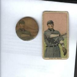 1909 T206 Cranston Of Memphis Pinback Pin 1 1/4 Pearl Rogers Of New Orleans