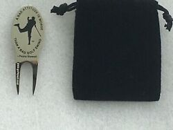 Payne Stewart Magnetic Figure Golf Divot Repair Tool And Ball Marker With Quote