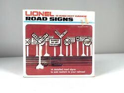 Lionel Road Signs For Your 0 And 027 Gauge Scale Railroad -1980s