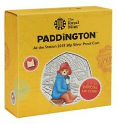 Paddington Silver Proof Coloured Coin Set 2018 And 2019 All 4 Coins Collection