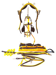 Cwell Equine Top Quality Trotting Racing Horse Harness Quick Hitch Yellow/brown