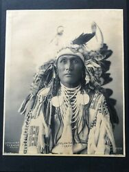 F.a. Rinehart 1898 Gelatin Silver Vintage Photograph, Spies On The Enemy- Crow