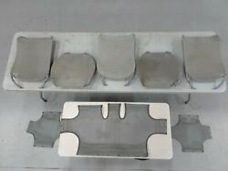 Used Gray Hughes 369d/md 500d Mesh Seats3 Backs2 Bottoms With Rear Bench Mesh
