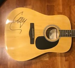 Liam Gallagher Signed Autographed Acoustic Guitar Oasis Proof 1