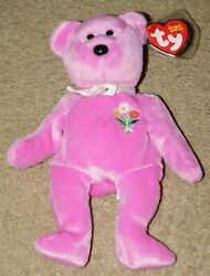 Rare Retired Ty Beanie Baby 2004 Motherand039s Day Mother Bear W/ 2 Tush Tags