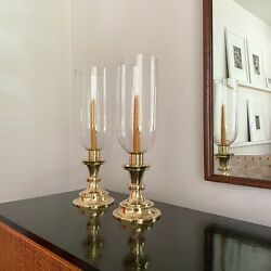 Pair Of Candlesticks / Hurricanes By Tommi Parzinger Dorlyn Silversmiths Rare