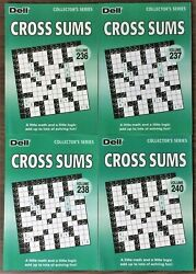 Lot Of 4 Dell Cross Sums Collectorand039s Series Puzzle Books Penny Press Variety