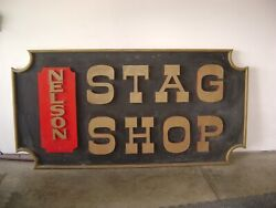OLD ANTIQUE Akron Ohio Store Front Clothing store Sign