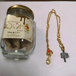 Disney Winnie The Pooh Q-pot Collaboration Honey Necklace With Special Package