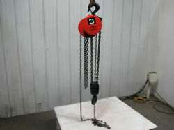 Cm Cyclone Model S 3 Ton Manual Chain Fall Hoist 4'4 Lift W/load Limiter Tested