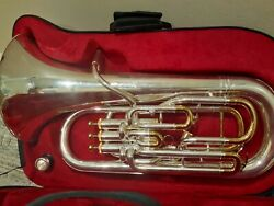 Professional Compensating Euphonium The O'malley 4 Valve Silver Plate / Gold