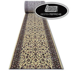 Thick Classic Runner Royal Caramel Flowers Width 70-150 Traditional Good Value