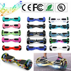 Electric Bluetooth Hoverboard Self Balance Scooter Led Light Hoover Board No Bag