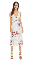 Astr The Label (S)  Floral Summer Cute Party Midi Dress Trendy Open Back Ruffle $43.99