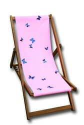 Damien Hirst Art Artwork Limited Royal Parks Edition Pink Butterfly Deckchair