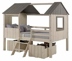 Full House Low Loft Rustic Sand/rustic Grey With Dual Loft Drawers In Rustic ...