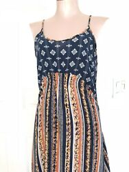 Hype Summer Strappy Colorful Midi Dress Sz Med So Cute. Beach $19.99