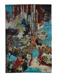 Hand Knotted 9and0397x6and03949 Design Modern Rug Wool Rug Abstract Carpet Teppich