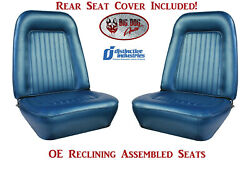 Assembled Oe Reclining Seats And Standard Rear Cover 1967-1968 Camaro Convertible
