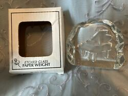 Grand Piano Etched Glass Paper Weight By Greenbrier International, Inc.