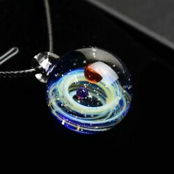 Fashion Glass Ball Planet Galaxy Pendant Necklace Jewelry Best Gift for WomenUS $12.99