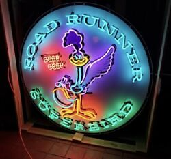 AMAZING Large ROAD RUNNER Superbird Beep HUGE NEON Sign STORE DISPLAY Man Cave