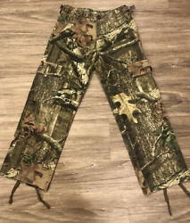 Cabela#x27;s For Kids Camo Cargo Hunting Pants Youth Boys 6 Regular Adjustable Waist $20.00