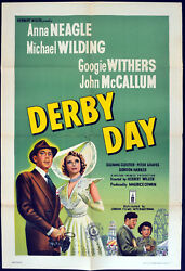 Derby Day 1952 Anna Neagle Michael Wilding Googie Withers Uk 1-sheet Poster