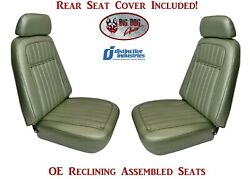 Assembled Deluxe Oe Reclining Seats And Rear Seat Cover - 1969 Camaro Convertible