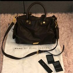 Marc By Marc One Size Womenand039s Leather Zipped Pocket Authentic Jacobs Handbags