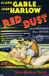 174908 Red Dust Clark Gable Jean Harlow Vintage Movie Laminated Poster Fr