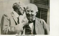 Thomas Edison And Henry Ford Vintage Real Photo Postcard